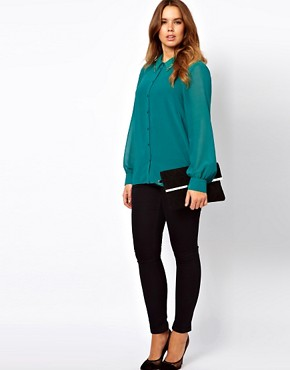 Image 4 of ASOS CURVE Blouse With Embellished Collar