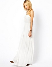 Mango Applique Cheesecloth Maxi Dress