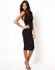 ASOS Midi Body-Conscious Dress With Halter Neck