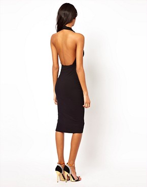 Image 2 ofASOS Midi Bodycon Dress With Halter Neck