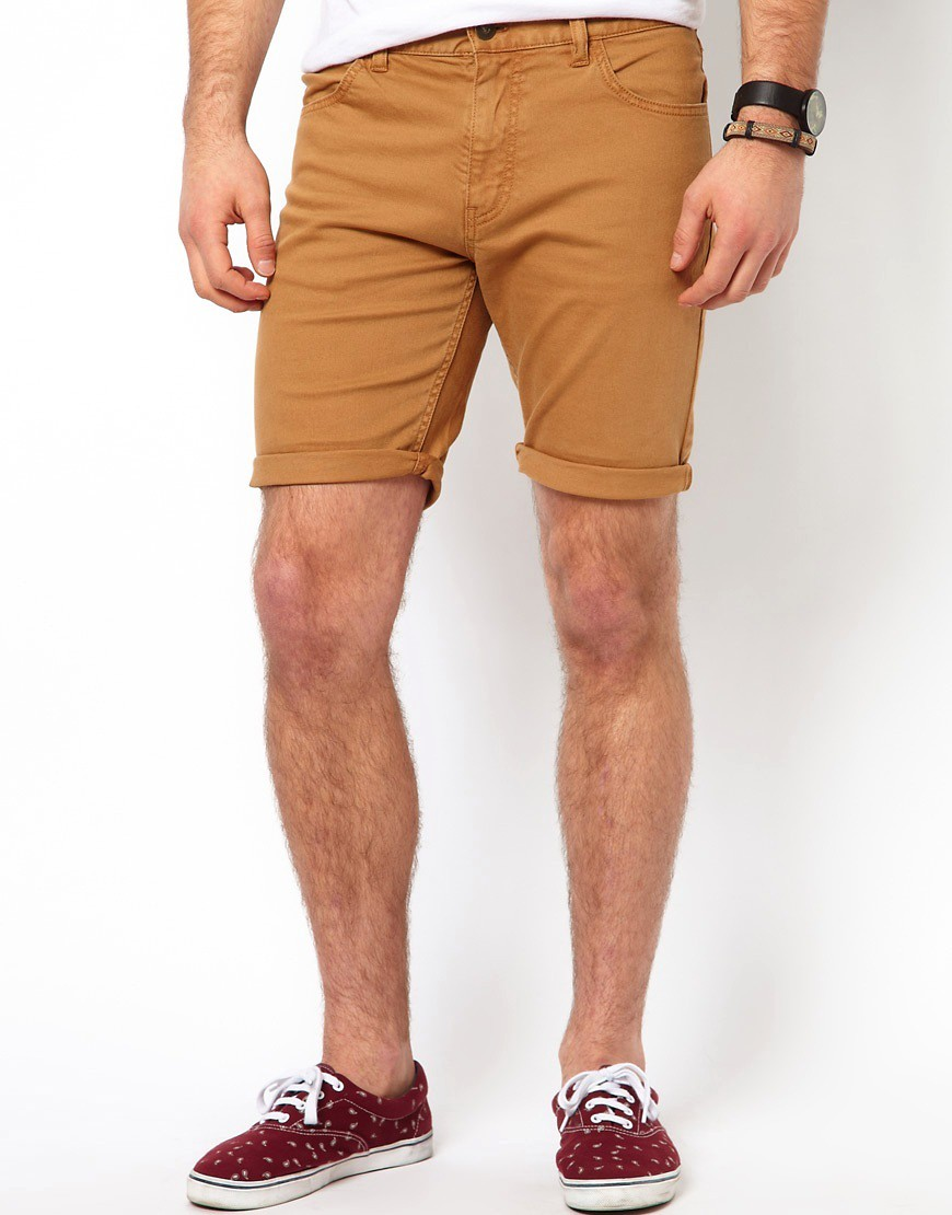 Image 2 of ASOS Denim Shorts with Skinny Fit