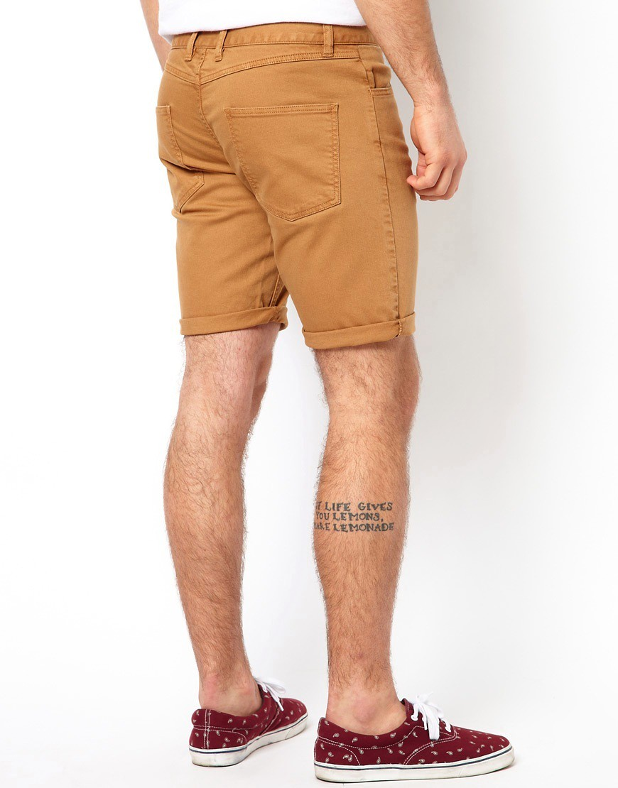 Image 3 of ASOS Denim Shorts with Skinny Fit