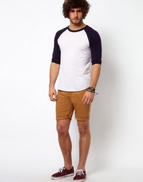 Image 1 of ASOS Denim Short with Skinny Fit