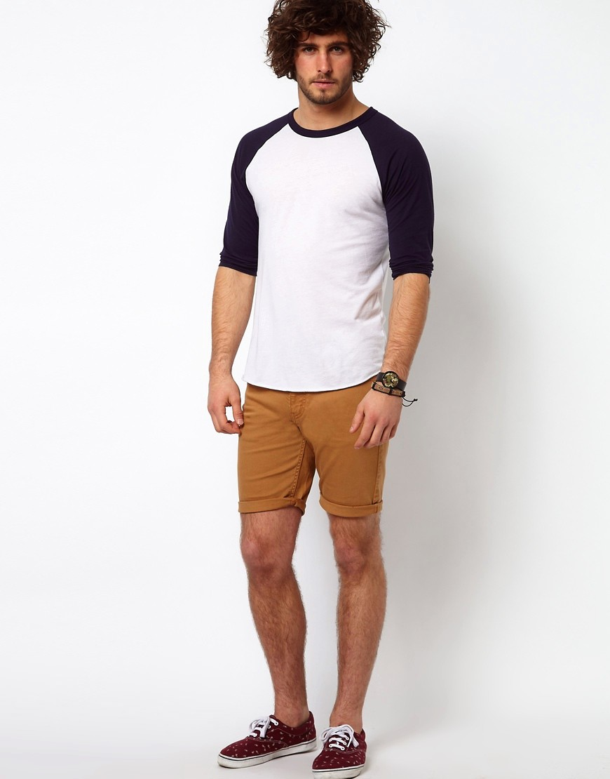 Image 1 of ASOS Denim Shorts with Skinny Fit