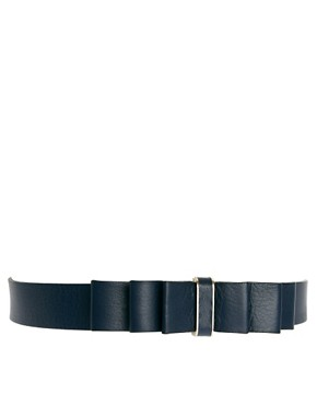 Image 1 ofWhistles Issa Leather Bow Waisted Belt