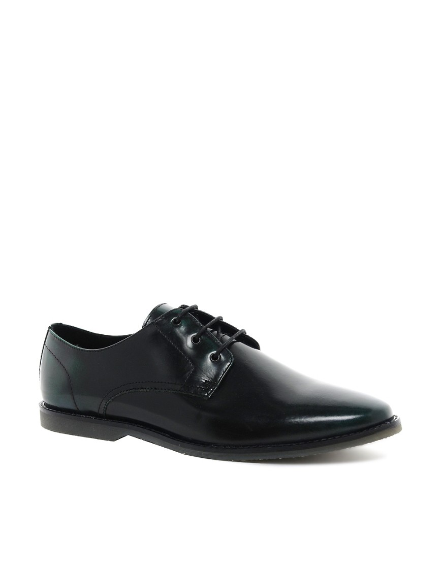 Image 1 of ASOS Derby Shoes in Leather