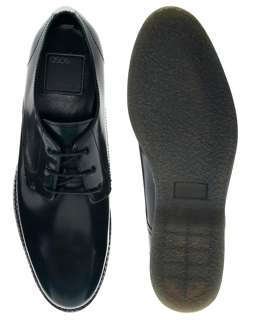 Image 3 of ASOS Derby Shoes in Leather