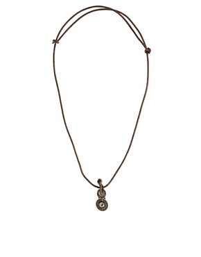 Image 2 ofIcon Brand Leather Necklace