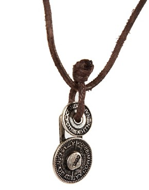 Image 4 ofIcon Brand Leather Necklace