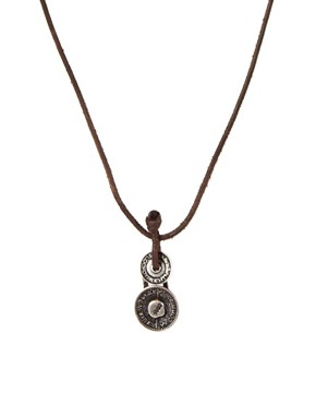 Image 1 ofIcon Brand Leather Necklace