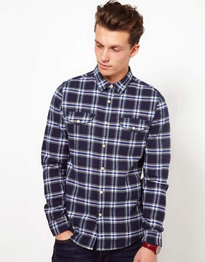 Image 1 ofASOS Brushed Check Shirt