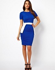 Vesper Pencil Dress with Peplum