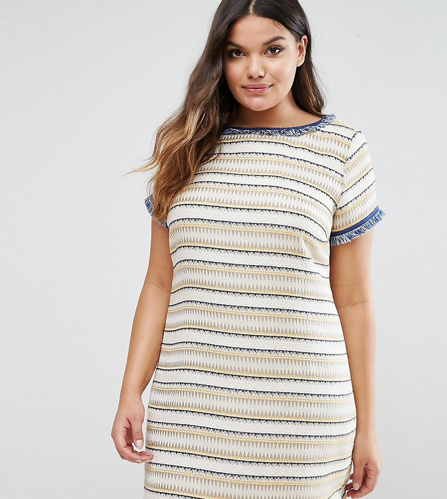 Elvi Texured Shift Dress