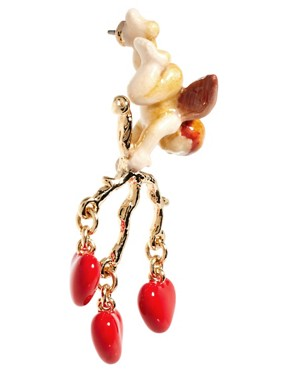 Image 3 ofDisaya Gold With Love Cupid Drop Earrings