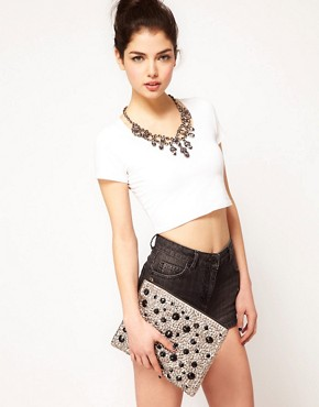Image 3 ofASOS Large Sequin Clutch