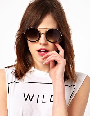 Image 3 ofWildfox Winona Round Sunglasses