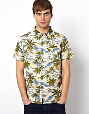 Native Youth Hawaiian Palm Shirt