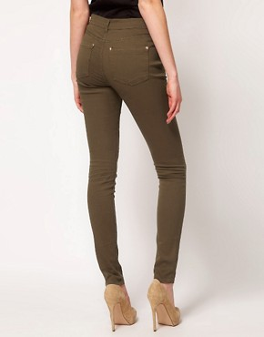 Image 2 ofOasis Khaki Cherry Skinny Jean