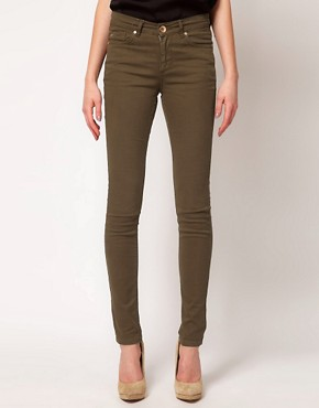 Image 1 ofOasis Khaki Cherry Skinny Jean