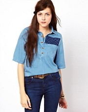 Wrangler Short Sleeved Denim Top