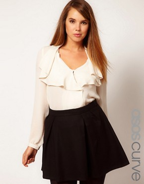 Image 1 ofASOS CURVE Blouse With Waterfall &amp; Wrap