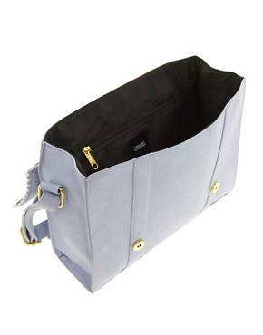 Image 2 ofASOS Satchel Bag With Scallop Trim And Buckles