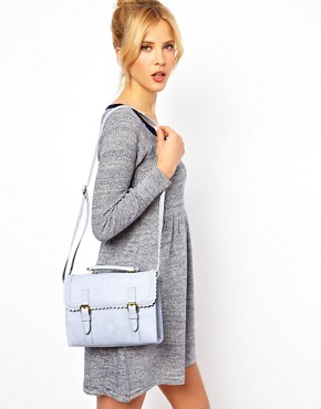 Image 3 ofASOS Satchel Bag With Scallop Trim And Buckles