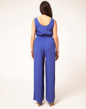 Image 2 ofASOS CURVE Rope Tie Jumpsuit