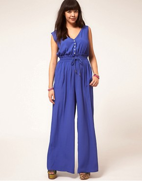 Image 4 ofASOS CURVE Rope Tie Jumpsuit