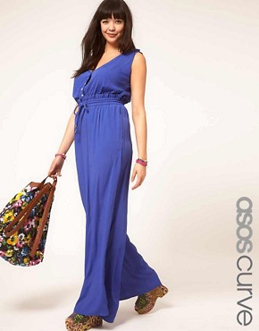 Image 1 ofASOS CURVE Rope Tie Jumpsuit