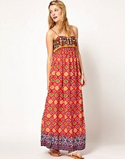 Denim & Supply By Ralph Lauren Embellished Top Maxi Dress