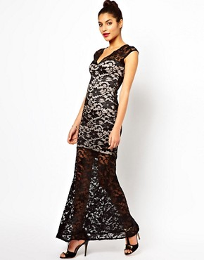 Image 1 ofLipsy Lace Maxi Dress