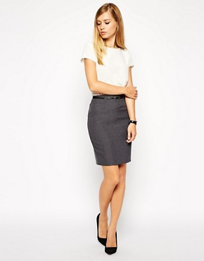 Image 1 ofASOS Belted Pencil Skirt