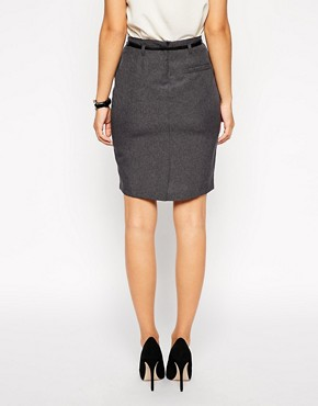 Image 2 ofASOS Belted Pencil Skirt