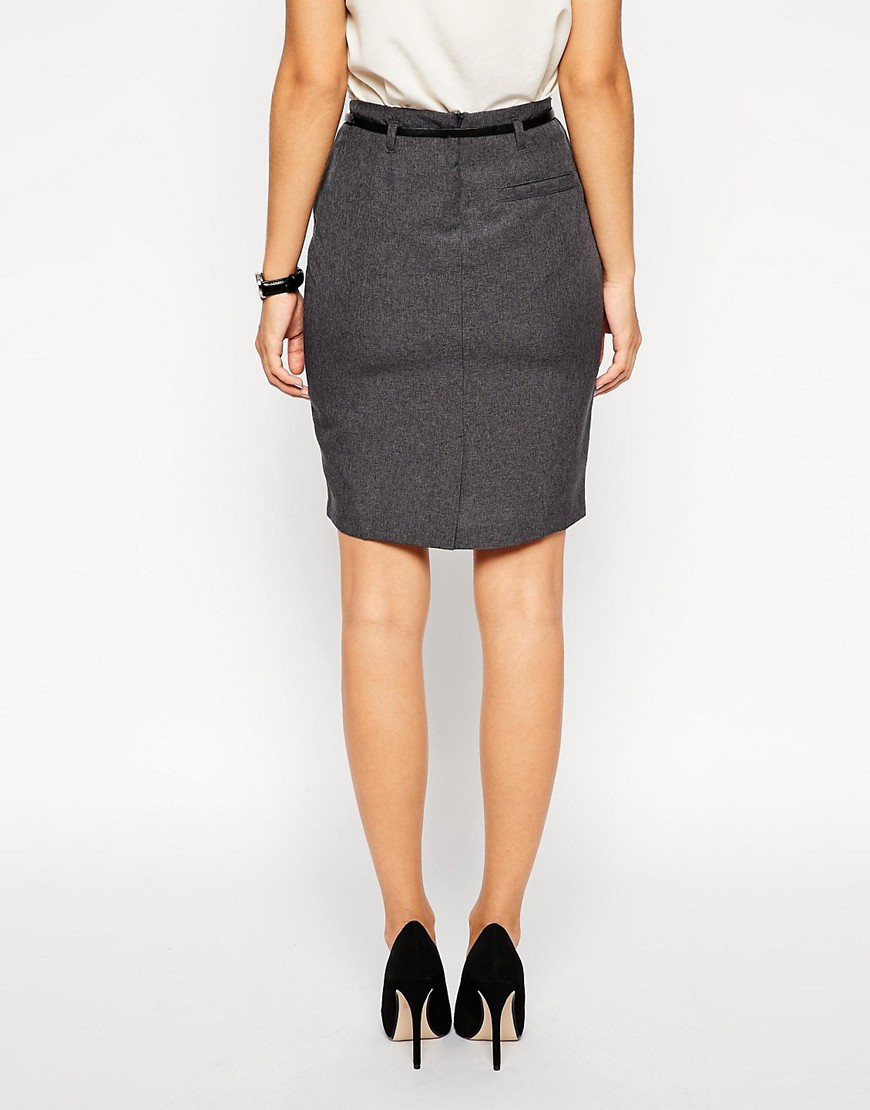 Image 2 of ASOS Belted Pencil Skirt
