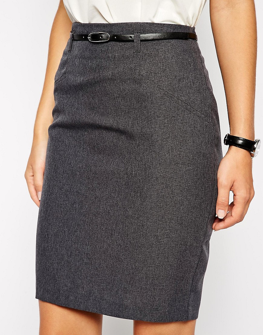 Image 3 of ASOS Belted Pencil Skirt
