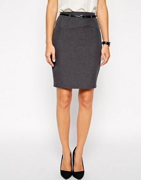 Image 4 ofASOS Belted Pencil Skirt