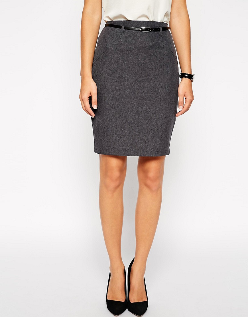 Image 4 of ASOS Belted Pencil Skirt