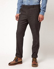 ASOS Slim Fit Suit Trousers in Herringbone