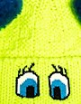 Image 3 ofPiers Atkinson For ASOS Cartoon Eyes Pom Pom Beanie