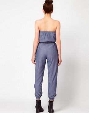 Image 2 ofAmerican Apparel Chambray Jumpsuit