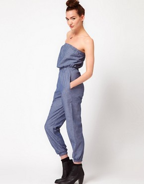 Image 4 ofAmerican Apparel Chambray Jumpsuit