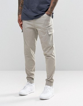 Illusive London Utility Cuffed Joggers In Skinny Fit
