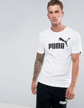 Puma ESS No.1 T-Shirt In White 83824102