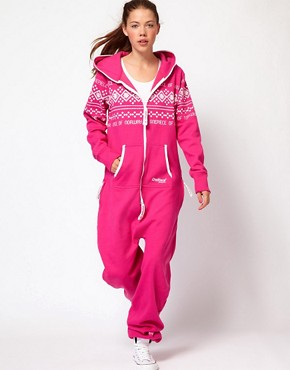 Image 4 ofOnePiece Nordic Pattern Extra Cosy Onesie