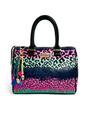 Paul's Boutique – Molly – Tasche mit Regenbogen-Leopardenmuster