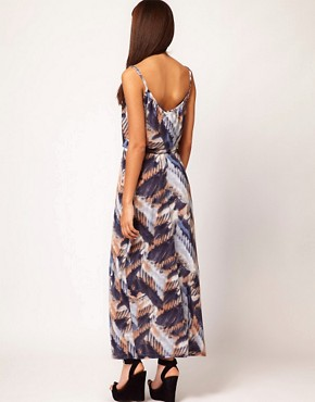 Image 2 ofRiver Island Feather Maxi Dress