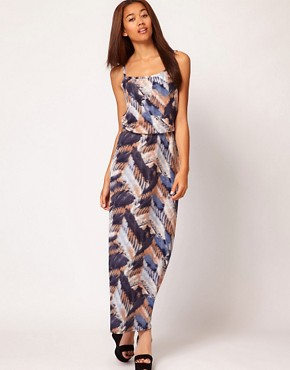 Image 4 ofRiver Island Feather Maxi Dress