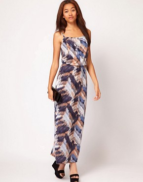 Image 1 ofRiver Island Feather Maxi Dress