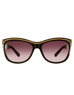 Image 2 ofJeepers Peepers Exclusive To ASOS Black Orla With Chain Detail Sunglasses